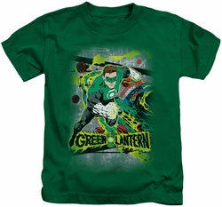 Green Lantern kids t-shirt Space Sector 2814 kelly green