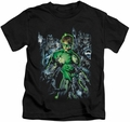Green Lantern kids t-shirt Surrounded By Death black