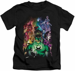 Green Lantern kids t-shirt The New Guardians black