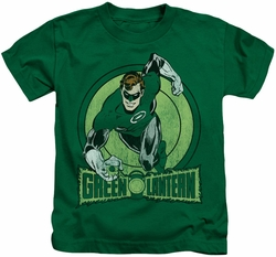 Green Lantern kids t-shirt The Ring kelly green