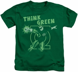 Green Lantern kids t-shirt Think Green kelly green