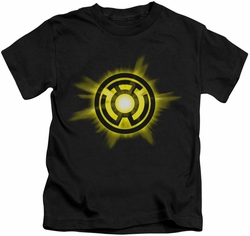 Green Lantern kids t-shirt Yellow Glow black