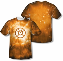 Green Lantern mens full sublimation t-shirt Orange Energy