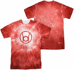 Green Lantern mens full sublimation t-shirt Red Energy