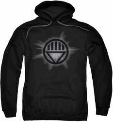 Green Lantern pull-over hoodie Black Glow adult black