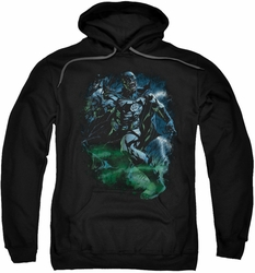 Green Lantern pull-over hoodie Black Lantern Batman adult black
