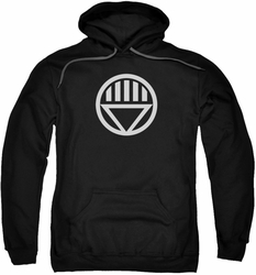 Green Lantern pull-over hoodie Black Lantern Logo adult black