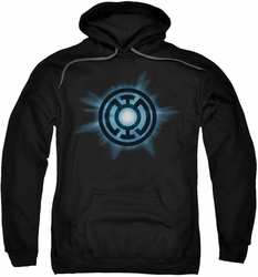 Green Lantern pull-over hoodie Blue Glow adult black