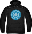 Green Lantern pull-over hoodie Blue Symbol adult black