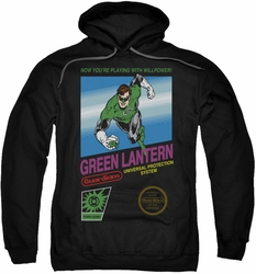 Green Lantern pull-over hoodie Box Art adult black