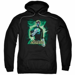 Green Lantern pull-over hoodie Brooding adult black
