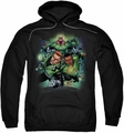 Green Lantern pull-over hoodie Corps #1 adult black