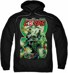 Green Lantern pull-over hoodie Corps #25 Cover adult black