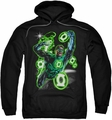 Green Lantern pull-over hoodie Earth Sector adult black