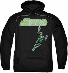 Green Lantern pull-over hoodie Energy Construct Logo adult black