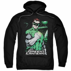 Green Lantern pull-over hoodie Fist Flare adult black