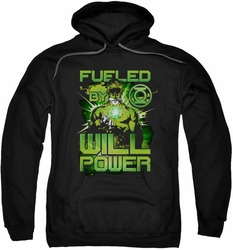 Green Lantern pull-over hoodie Fueled adult black