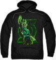 Green Lantern pull-over hoodie Fully Charged adult black
