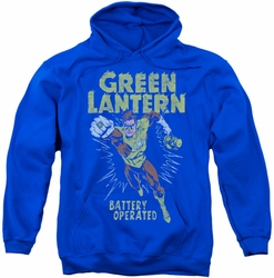 Green Lantern pull-over hoodie Fully Charged adult royal blue