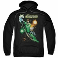 Green Lantern pull-over hoodie Galactic Guardian adult black
