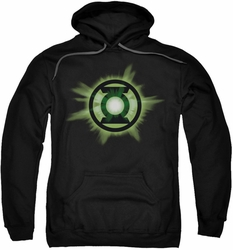 Green Lantern pull-over hoodie Green Glow adult black