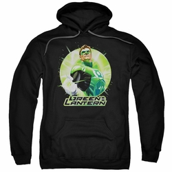 Green Lantern pull-over hoodie Green Static adult black