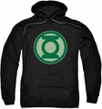 Green Lantern pull-over hoodie Green Symbol adult black