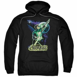 Green Lantern pull-over hoodie Hal Galaxy adult black