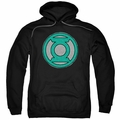 Green Lantern pull-over hoodie Hand Me Down adult black