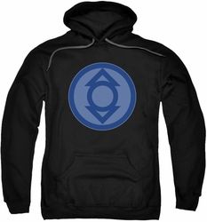 Green Lantern pull-over hoodie Indigo Symbol adult black