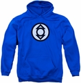 Green Lantern pull-over hoodie Indigo Tribe adult royal blue