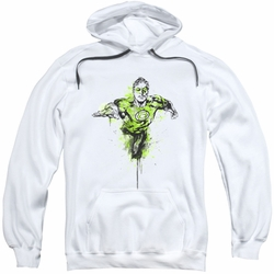 Green Lantern pull-over hoodie Inked adult white