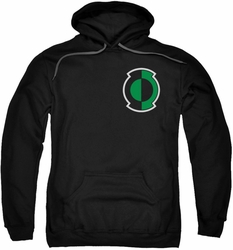 Green Lantern pull-over hoodie Kyle Logo adult black