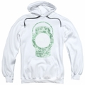 Green Lantern pull-over hoodie Lantern Cover adult white