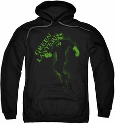 Green Lantern pull-over hoodie Lantern Darkness adult black