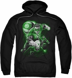 Green Lantern pull-over hoodie Lantern Planet adult black