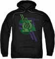 Green Lantern pull-over hoodie Lantern Shapes adult black