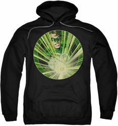 Green Lantern pull-over hoodie Light Em Up adult black