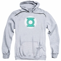 Green Lantern pull-over hoodie Logo Distressed adult athletic heather