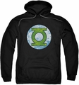 Green Lantern pull-over hoodie Neon Distress Logo adult black