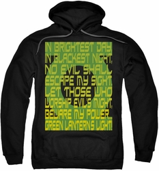 Green Lantern pull-over hoodie Oath adult black