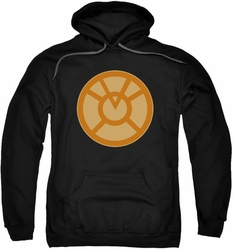 Green Lantern pull-over hoodie Orange Symbol adult black