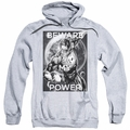 Green Lantern pull-over hoodie Power adult athletic heather