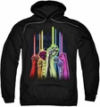 Green Lantern pull-over hoodie Rainbow Corps adult black