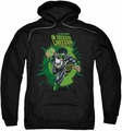 Green Lantern pull-over hoodie Rayner Cover adult black