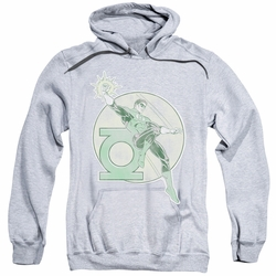 Green Lantern pull-over hoodie Retro Iron On adult athletic heather