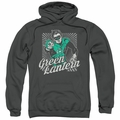 Green Lantern pull-over hoodie Ring Rays adult charcoal