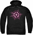 Green Lantern pull-over hoodie Sapphire Glow adult black