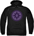 Green Lantern pull-over hoodie Sapphire Symbol adult black