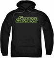 Green Lantern pull-over hoodie Scribble Title adult black